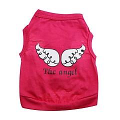 halpa Koirien vaatteet ja tarvikkeet-Kissa Koira Asut T-paita Koiran vaatteet Enkeli ja paholainen Purppura Ruusu Vihreä Pinkki Puuvilla Asu Lemmikit Cosplay Halloween