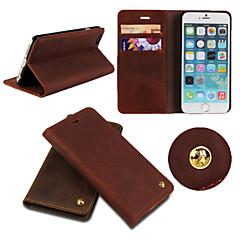 Недорогие Кейсы для iPhone 6-Кейс для Назначение iPhone 6s Plus iPhone 6 Plus Apple iPhone 6 Plus Чехол Твердый Настоящая кожа для iPhone 6s Plus iPhone 6 Plus