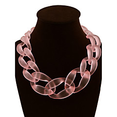 preiswerte Halsketten-Damen Statement Ketten - Fest / Feiertage Rosa, Hellblau, Leicht Grün Modische Halsketten Für Party, Besondere Anlässe