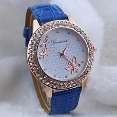 preiswerte Damenuhren-Damen Armbanduhr Quartz Schlussverkauf PU Band Analog Schmetterling Modisch Schwarz / Weiß / Blau - Rot Blau Rosa