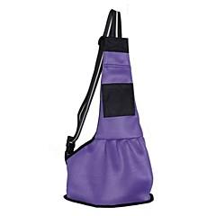 Kot Pies Przewoźnicy i plecaki turystyczne Sling Zwierzęta domowe Torby Przenośny Składany Jendolity kolorBlack Purple Czerwony Niebieski
