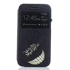 お買い得  Samsung その他の機種用ケース/カバー-ケース 用途 Samsung Galaxy Samsung Galaxy ケース スタンド付き / ウィンドウ付き / フリップ フルボディーケース ワード/文章 PUレザー のために J1