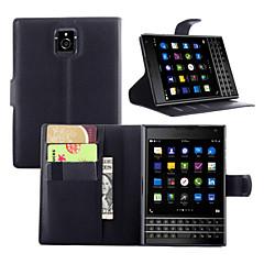 رخيصةأون -إلى حالة بلاك بيري محفظة / حامل البطاقات / مع حامل / قلب غطاء كامل الجسم غطاء لون صلب قاسي جلد اصطناعي إلى BlackBerry