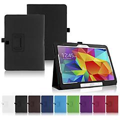 Недорогие Чехлы и кейсы для Galaxy Tab 4 10.1-Для Кейс для  Samsung Galaxy со стендом / Флип Кейс для Чехол Кейс для Один цвет Искусственная кожа SamsungTab 4 10.1 / Tab Pro 10.1 /