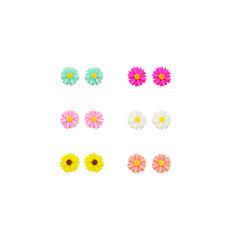 voordelige Damessieraden-Oorknopjes Oorbellen set Hars Verzilverd Bloemvorm Zonnebloem Sieraden Voor Dagelijks Causaal Sport 12st
