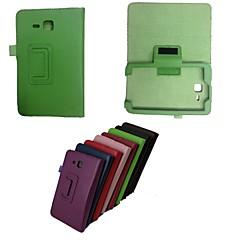 Недорогие Чехлы и кейсы для Galaxy Tab 3 Lite-Кейс для Назначение SSamsung Galaxy Кейс для  Samsung Galaxy со стендом Флип Чехол Однотонный Кожа PU для Tab 3 Lite
