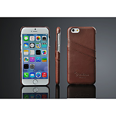 Case For iPhone X iPhone 8 iPhone 8 Plus iPhone 6 iPhone 6 Plus Card Holder Back Cover Solid Color Hard Genuine Leather for iPhone X