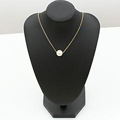 preiswerte Halsketten-Damen Anhängerketten - Edelstahl, Strass Modische Halsketten Schmuck Für Hochzeit, Party, Alltag