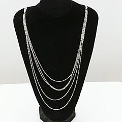 preiswerte Halsketten-Damen Kristall Statement Ketten  -  18K vergoldet, Diamantimitate, Österreichisches Kristall Europäisch, Modisch Weiß Modische Halsketten Für