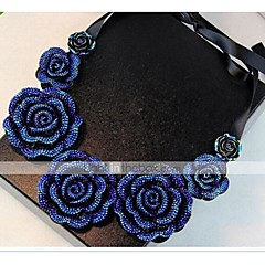 cheap Necklaces-Women's Floral Choker Necklace Collar Necklace - Floral Flower Style Vintage Flowers Bohemia Roses Flower Necklace For Daily Casual