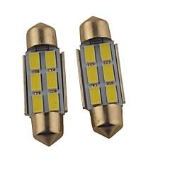 preiswerte Autozubehör-2pcs 36mm / 39mm Auto Leuchtbirnen 1.2 W SMD 5630 140 lm 6 Leselampe Für