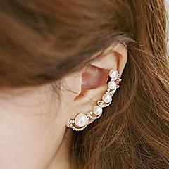 preiswerte Ohrringe-Damen Perle Ohr-Stulpen Ein Ohrring Ohr Kletterer - Perle, Künstliche Perle, Kubikzirkonia Personalisiert, Modisch Gold Für