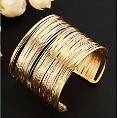 Lucky Doll Women's All Matching Vintage Gold Cut Out Braided Open Bracelet Gifts