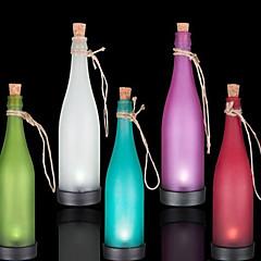 abordables Lámparas LED Novedosas-paquete de 5 lámpara de botella solar llevó la decoración interspersion luz multicolor luz colgante
