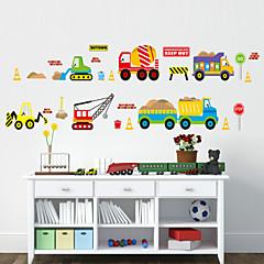 αυτοκόλλητα τοίχου τοίχου στυλ αυτοκόλλητα αυτοκόλλητα καρτούν PVC αυτοκίνητο τοίχο