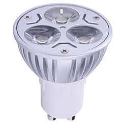 1pc 6w gu10 ha condotto il riflettore 3 alto potere ha condotto il bianco caldo bianco caldo 400lm ac85-265v