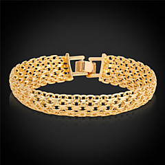 cheap Bracelets-Men's Women's Gold Plated Chain Bracelet Vintage Bracelet - Gold Silver Bracelet For Wedding Party Daily