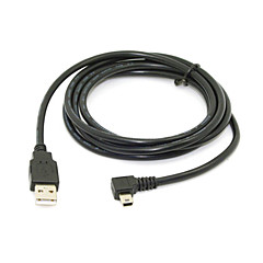 Mini USB B Type 5pin Male Left Angled 90 Degree to USB 2.0 Male Data Cable 6ft 1.8m