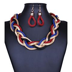 preiswerte Halsketten-Damen Tropfen-Ohrringe / Statement Ketten  -  Retro, Erklärung Purpur, Rot, Blau Modische Halsketten Für Party, Besondere Anlässe, Herzliche Glückwünsche