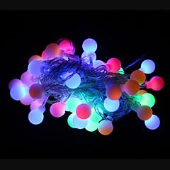 お買い得  LED ストリングライト-50 LED RGB 充電式 / 装飾用 220-240V / #