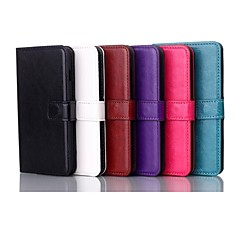 For LG Case Card Holder / Wallet / with Stand / Flip Case Full Body Case Solid Color Hard PU Leather LG