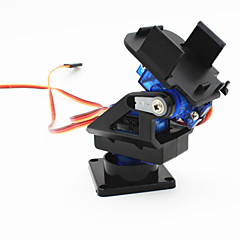 cheap Robots & Accessories-2-Axis FPV Camera Cradle Head w/ 9g Dual Servo / Steering Gear for Robot / R/C Car - Black + Blue