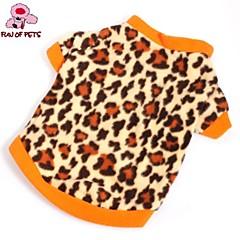 お買い得  犬用ウェア&アクセサリー-ネコ 犬 Tシャツ スウェットシャツ 犬用ウェア レオパード Brown フリース コスチューム ペット用 男性用 女性用 ファッション