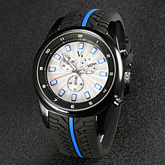 preiswerte Tolle Angebote auf Uhren-V6 Herrn Armbanduhr Quartz Japanischer Quartz Caucho Band Analog Schwarz - Schwarz Rot Blau