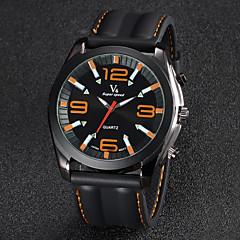 お買い得  メンズ腕時計-V6 男性用 リストウォッチ クォーツ 日本産クォーツ シリコーン バンド ハンズ ブラック - イエロー レッド ブルー 2年 電池寿命 / 三菱LR626