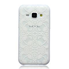Недорогие Чехлы и кейсы для Galaxy Alpha-Кейс для Назначение SSamsung Galaxy Кейс для  Samsung Galaxy С узором Кейс на заднюю панель Кружева Печать ТПУ для J5 J1 E7 E5 Alpha
