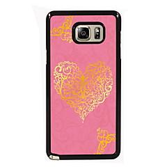 billige Galaxy Note 5 Etuier-For Samsung Galaxy Note Etuier Mønster Bagcover Etui Hjerte PC for Samsung Note 5 Edge Note 5 Note 4 Note 3