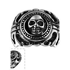 Кольцо Нержавеющая сталь В форме черепа Серебряный Бижутерия Halloween Повседневные Спорт 1шт