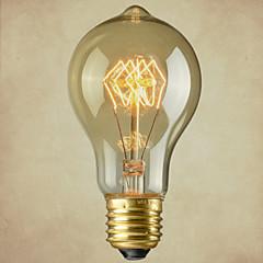 preiswerte LED-Birnen-1pc 40W E27 E26/E27 E26 A60(A19) Weiß 2300 K Glühbirne Vintage Edison Glühbirne weißglühend AC110-240 Wechselstrom 110-220 Wechselstrom