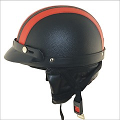 carking xt02 motorfiets pu leer helm (m)
