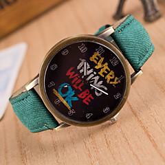 Dames Modieus horloge Kwarts PU Band Teksthorloge