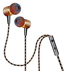 お買い得  ヘッドセット、ヘッドホン-Plextone 耳の中 ケーブル ヘッドホン Aluminum Alloy 携帯電話 イヤホン ボリュームコントロール付き / マイク付き ヘッドセット