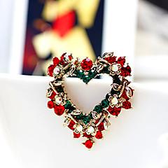 szív koszorú karácsony kitűző