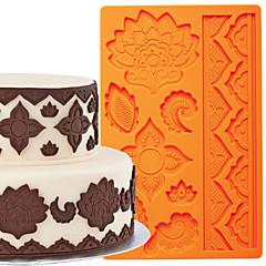 Kuchendekoration Werkzeuge global Fondant und Gummi Paste Formkuchen Grenze Silikonform fm-03