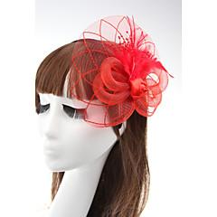 tanie Biżuteria do włosów-Fascinator,Koronka Black Dark Blue Purple Rose Czerwony