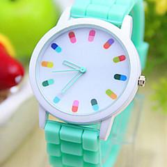 preiswerte Damenuhren-Quartz Armbanduhr Armbanduhren für den Alltag PU Band Charme / Modisch Schwarz / Weiß / Blau / Rot / Orange / Grün / Rosa / Lila / Gelb