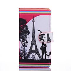 Varten Motorola kotelo kotelot kuoret Lomapkko Korttikotelo Tuella Flip Kokonaan peittävä Etui Eiffelin torni Kova Tekonahka varten