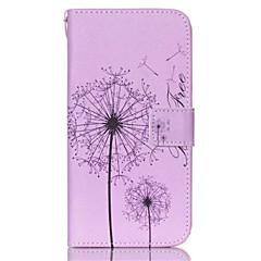 Mert Samsung Galaxy tok Kártyatartó / Pénztárca / Állvánnyal / Flip Case Teljes védelem Case Pitypang Műbőr SamsungS6 edge plus / S6 edge