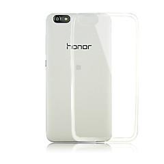 お買い得  Huawei Pシリーズケース/ カバー-ケース 用途 Huawei社の名誉4X Huawei Huaweiケース クリア バックカバー 純色 ソフト TPU のために Huawei Honor 4X Huawei