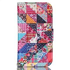tanie Galaxy S4 Mini Etui / Pokrowce-Na Samsung Galaxy Etui Z podpórką Kılıf Futerał Kılıf Geometryczny wzór Skóra PU SamsungS6 edge plus / S6 / S5 Mini / S5 / S4 Mini / S4 /