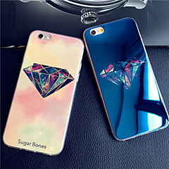 Luxurious Diamonds Blue Light Reflective Blu-ray Soft TPU Case Cover For iPhone 7 7 Plus 6s 6 Plus