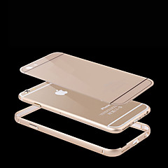 Недорогие Кейсы для iPhone-Кейс для Назначение Apple iPhone 6 iPhone 6 Plus Защита от удара Кейс на заднюю панель Однотонный Твердый Металл для iPhone 6s Plus