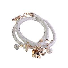 preiswerte Armbänder-Damen Wickelarmbänder - Leder Armbänder Rose / Blau / Dunkelrot Für Party / Alltag / Normal