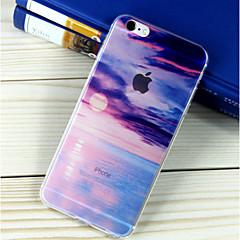 Недорогие Кейсы для iPhone 6-Кейс для Назначение Apple iPhone 6 iPhone 6 Plus Полупрозрачный С узором Кейс на заднюю панель Пейзаж Мягкий ТПУ для iPhone 6s Plus