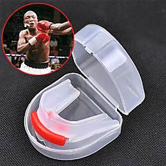 واقيات الفم التايكوندو ساندا الملاكمة التايلندية الملاكمة كرتيه المحمول متعددة الوظائف جهتين مضاعفتين معدات الحمايةجل السيليكا خامات حفظ