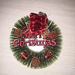 Karácsony - Műanyag - Piros - Díszítések